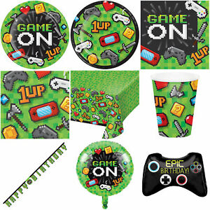Gaming Party Tableware & Decorations
