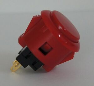 Japan Sanwa Red Start Buttons x 1 pc OBSF-24-R Video Arcade Parts