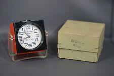 MCM Eames Era Verner Panton GDR German Design Ruhla Alarm Clock Orange Acrylic