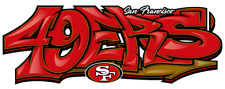 San Francisco 49ers Graffiti Die Cut Vinyl Decal NFL 7.56