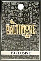 Hard Rock Cafe Baltimore Pin Core Destination Name 2017 The Raven New # 95223
