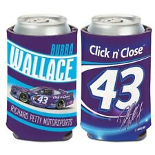 2018 BUBBA WALLACE #43 CLICK N CLOSE CAN COOLER HUGGIE NEW FREE SHIP