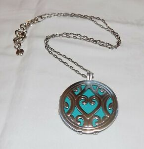 Christo by Brighton Silver-Plated Madrid Round Turquoise Blue Heart Necklace