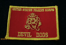 US MARINES DEVIL DOG FLAG HAT PATCH BULLDOG MAR DIV MAW FSSG MCB MCAS FMF GIFT