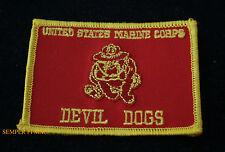 US MARINES DEVIL DOG FLAG HAT PATCH BULLDOG MAR DIV MAW FSSG MCB MCAS FMF GIFT