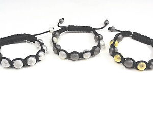 Men's Women's Gold Finish Bead Ball Bracelet 3 Colors Available New+Free Ship