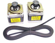 2 X Nema 17 Stepper Motors 2m Gt2 Belt Reprap Makerbot Prusa Mendel 3d Printer