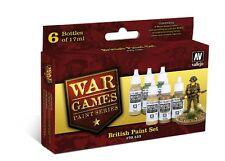 Vallejo 70153 británico infrantry Pintura Acrílica juegos de guerra conjunto 6 X 17ml plástico Btl