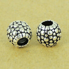 2 PCS 925 Sterling Silver Barrel Beads Vintage DIY Jewelry Making WSP482X2