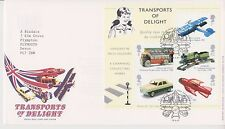 GB ROYAL MAIL FDC 2003 TRANSPORTS OF DELIGHT STAMP MINIATURE SHEET TOYE PMK