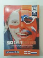ENGLAND V HOLLAND 2001 - FOOTBALL PROGRAMME WEMBLEY
