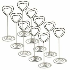 10X Crystal Heart Place Card Name Holders Table Number Decoration Wedding Favors