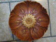 Vintage Syroco Flower Wood Grain Decorative Bowl 1946 Multi Products Inc