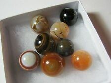 Marble Mixed Lot of 8 Machine Made Original Vintage Marbles    T*