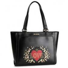 NEWT AUTH LOVE MOSCHINO JC4106PP18LT0000 BLACK ECOLEATHER TOTE  BAG
