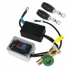 Smart 12V Autobatterie Hauptschalter Trennschalter Voltmeter mit 2 Fernbedienung