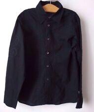 CHEMISE coton NOIR RA-Ré brodé luxe 8 ans garçon superbe porté 2 fois comme NEUF