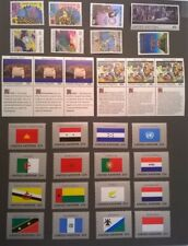 UN NY 1989 United Nations Scott 546-571 Complete MNH Year Set * Flags & Humanity