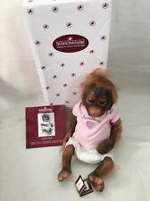 """Ashton Drake 14"""" Silicone Baby Monkey Orangutan Doll Little Umi"""