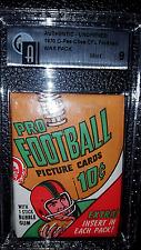 1970 CFL O-Pee-Chee OPC Football Wax Pack Unopened Graded GAI 9 Rare