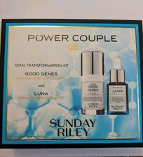 Sunday Riley Power Couple Good Genes Lactic Acid & Luna Night Oil Set Kit New