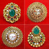 Traditional Goldtone CZ Stone Indian Women Wedding Bridal Ring New Jewelry