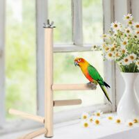 Wooden Parrot Stand Perch Bird Small Medium Large Cockatiel Multi Birds Sitting