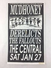 Mudhoney - The Central Tavern SEATTLE Washington Jan 27, 1990 Concert Poster