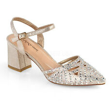 3a02fb8f913d Gold Indian Bollywood Rhinestone Shoes Low Wedding Heels Womans size 9 10  11 12