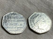 Rare 2005Johnson Dictionary 1755 50p Fifty Pence Coin Saxon Plural of Penny