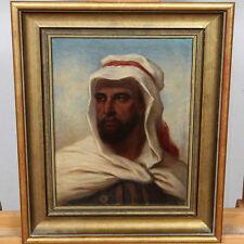 SIGNIERT 1870 ÖL GEMÄLDE ANTIK PORTRAIT MANN ARABER ARABISCH old oil painting
