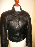 vintage 80`s GERMOT Motorrad Lederjacke motorcycle leather jacket 50 S/M