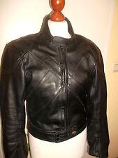 vintage 80`s GERMOT Motorrad Lederjacke motorcycle leather jacket 50 S/M