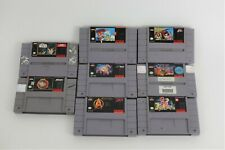 8 Super Nintendo SNES Games Lot Star Wars NBA Jam Star Trek Mario Xmen Spiderman