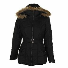Rampage Women's Belted Puffer Jacket Without Hood NWD (Black, Large)