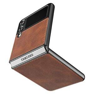 Cresee Custodia per Samsung Galaxy Z Flip 3 5G, in pelle PU, colore: Marrone