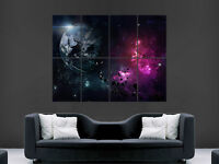NEBULA SPACE EARTH POSTER PLANET EXPLOSION  IMAGE GIANT PRINT ART