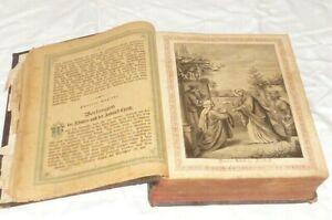 Vecchio Chiesa Libro Sia Sei Gesù Cristo di Preghiere Bibbia Leben 1900