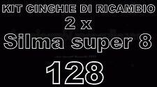KIT CINGHIE DI RICAMBIO 2 x PROIETTORE Super 8 SILMA 128 (motore/trascinamento)
