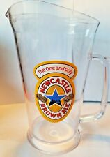 """Newcastle Brown Ale """" The One and Only """" 60oz. Plastic Beer Pitcher 9"""""""