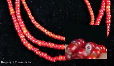 Old Native American White Heart Trade Beads 1800's Great Lakes NY