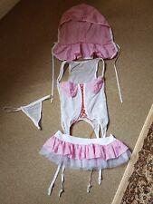 BNWOT Bo Peep/Shepherdess Pink Gingham Fantasy Dress Up Outfit Free Size/10-12