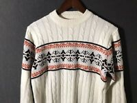 Vintage Richman Bros. Mens Acrylic Sweater Size S Small Christmas Winter