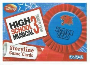HIGH SCHOOL MUSICAL 3 STORYLINE SINGLES - ACTION CARDS