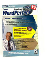 Video Professor Learn WordPerfect 3 CD Set PC Software P041WP (SEALED)