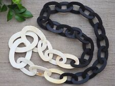 Chain Necklace Jewelry Matte Natural Buffalo Horn