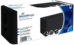 Mediarange Cable tidy box Kabelbox M medium sized schwarz