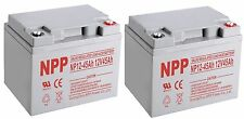 NPP 12V 45 Amp 40Ah 45Ah 50Ah AGM Fire Alarm Battery Replace UPG UB12350 /Pack 2