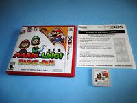 Mario & Luigi Paper Jam (Nintendo 3DS) XL 2DS w/Case & Insert