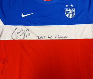 CARLI LLOYD AUTOGRAPHED TEAM USA NIKE JERSEY WS CHAMPS XL PSA/DNA ITP 93163